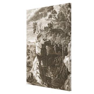 El eco de la ninfa cambiado en el sonido, 1731 (gr lienzo envuelto para galerías