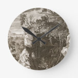 El eco de la ninfa cambiado en el sonido, 1731 (gr reloj redondo mediano
