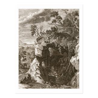 El eco de la ninfa cambiado en el sonido, 1731 tarjeta postal