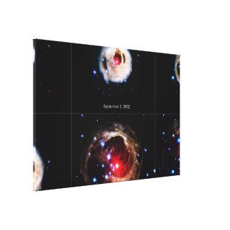 El eco ligero de extensión de la estrella impresion en lona