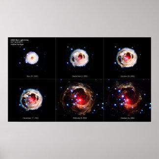 El eco ligero de extensión de la estrella supergig póster