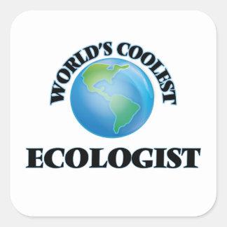 el ecologista MÁS FRESCO de los mundos Calcomanías Cuadradas Personalizadas