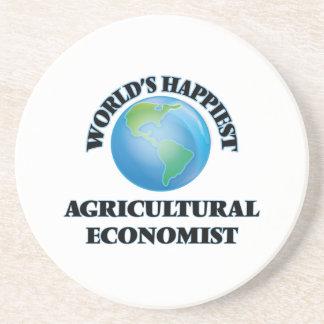 El economista agrícola más feliz del mundo posavasos personalizados