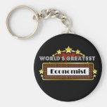 El economista más grande del mundo llavero personalizado
