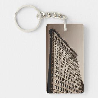 El edificio de Flatiron - New York City clásico Llavero Rectangular Acrílico A Una Cara