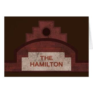 el edificio de Hamilton Tarjeta De Felicitación