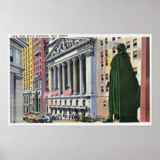 El edificio de la Bolsa de Nuevo York Posters