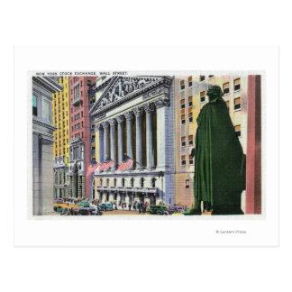 El edificio de la Bolsa de Nuevo York Tarjeta Postal