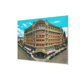 El edificio de la Commonwealth y el teatro de Pant Impresión En Tela