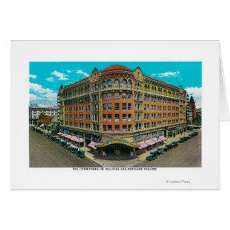 El edificio de la Commonwealth y el teatro de Pant Tarjeta De Felicitación