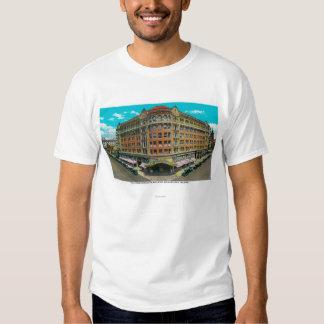 El edificio de la Commonwealth y el teatro de Poleras