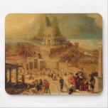 El edificio de la torre de Babel (el panel) Alfombrilla De Ratones