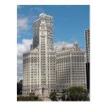 El edificio de Wrigley, Chicago, en un día hermoso