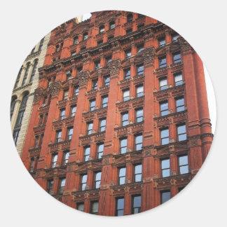 El edificio del alfarero, New York City Pegatina Redonda
