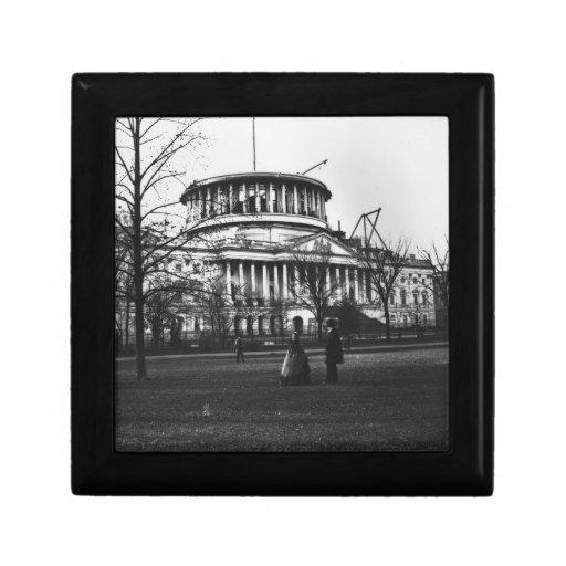 El edificio del capitolio en la C.C. de Washington Caja De Joyas