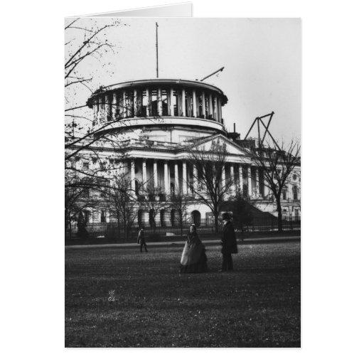 El edificio del capitolio en la C.C. de Washington Tarjeta De Felicitación