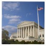 El edificio del Tribunal Supremo de Estados Unidos Azulejo Cuadrado Grande