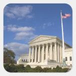 El edificio del Tribunal Supremo de Estados Unidos Pegatina Cuadrada