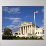 El edificio del Tribunal Supremo de Estados Unidos Póster
