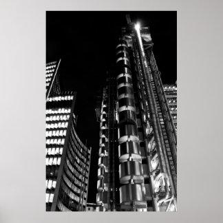 El edificio Londres de Lloyd Poster