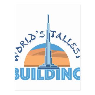 El edificio más alto de los mundos tarjeta postal