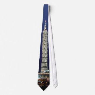 El edificio más alto del mundo de Taipei 101 Corbata