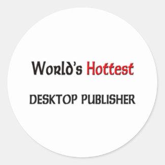 El editor de escritorio más caliente de los mundos pegatinas redondas