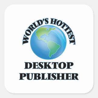 El editor de escritorio más caliente del mundo pegatinas cuadradases personalizadas