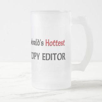 El editor más caliente de los mundos taza cristal mate