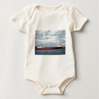 El Edmund Fitzgerald en el río del St. Clair Body Para Bebé