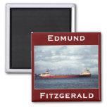El Edmund Fitzgerald en el río del St. Clair Imán De Frigorifico