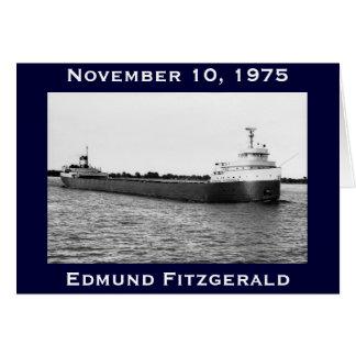 El Edmund Fitzgerald en el río del St. Clair Tarjetón