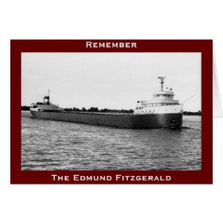 El Edmund Fitzgerald en el río del St. Clair Tarjeta De Felicitación