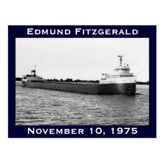 El Edmund Fitzgerald en el río del St. Clair Postal