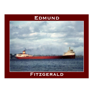 El Edmund Fitzgerald en el río del St. Clair Postales