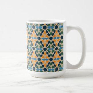 El edredón abstracto del vintage inspiró la tela taza de café
