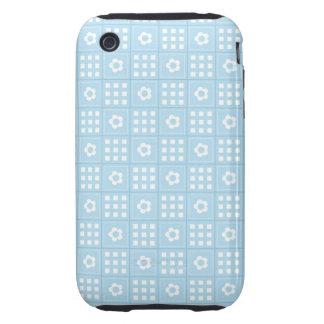 El edredón azul claro ajusta las flores y ajusta P Tough iPhone 3 Coberturas