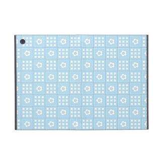El edredón azul claro ajusta las flores y ajusta P iPad Mini Protectores