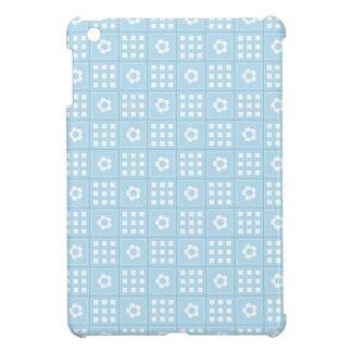 El edredón azul claro ajusta las flores y ajusta P iPad Mini Funda