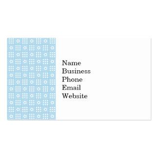 El edredón azul claro ajusta las flores y ajusta P Plantillas De Tarjetas Personales