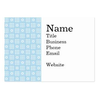 El edredón azul claro ajusta las flores y ajusta P Tarjetas De Negocios
