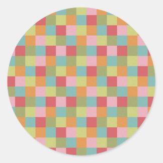 El edredón coloreado multi de las tejas ajusta la pegatina redonda