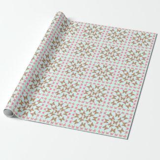 El edredón maravilloso de la mariposa de la paz de papel de regalo