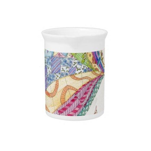 El edredón pintado jarra de beber