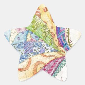El edredón pintado pegatina en forma de estrella