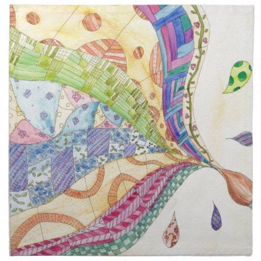El edredón pintado servilleta de papel