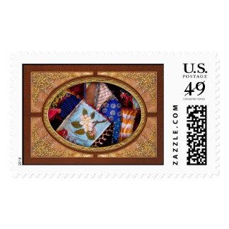 El edredón - remiendo - de la abuela de costura sellos
