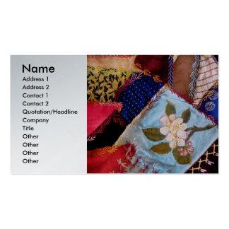 El edredón - remiendo - de la abuela de costura plantillas de tarjetas personales