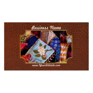El edredón - remiendo - de la abuela de costura plantillas de tarjeta de negocio