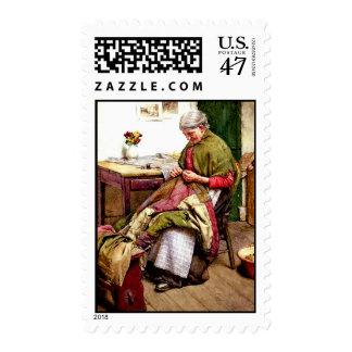 El edredón viejo - Gualterio Langley Timbre Postal